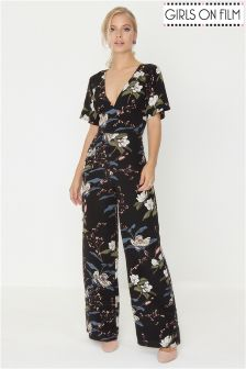 Girls On Film Printed Jumpsuit