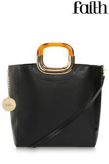 Faith Tortoise Style Handle Grab Bag
