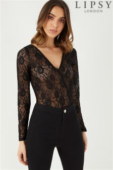 Lipsy All Over Lace Bodysuit