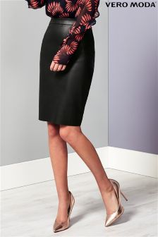 Vero Moda PU Pencil Skirt