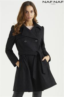 Naf Naf Wool Princess Coat
