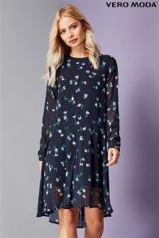 Vero Moda Drop Hem Printed Dress