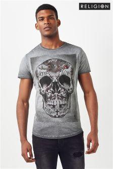 Koszulka z czaszką Religion