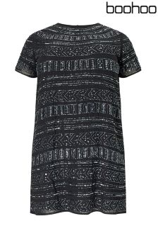 Boohoo Plus Embellished Shift Dress