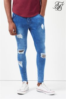 Siksilk Skinny Distressed Jeans
