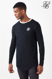 Koszulka Siksilk z długim rękawem i zaokrąglonym rąbkiem