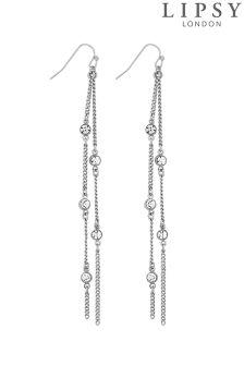 Lipsy Crystal Chain Drop Earring