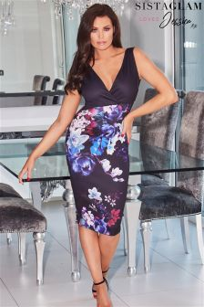 Jessica Wright 2 In 1 Bodycon Wrap Dress With Floral Print Skirt