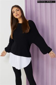 Noisy May Vete Long Sleeve Knitted Jumper Top