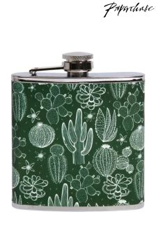 Paperchase Cacti Crowd Hip Flask