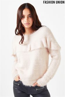 Fashion Union Front Frill Jumper