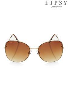 Lipsy Square Metal Glam Sunglasses