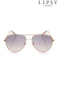 Lipsy Chain Aviator Sunglasses