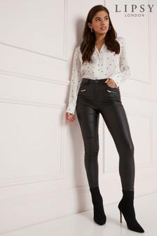 Lipsy Long Length Coated Skinny Jeans