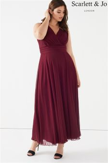 Scarlett & Jo Plus Chiffion Maxi Dress
