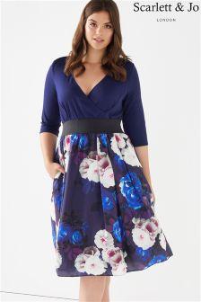 Scarlett & Jo Floral Print Midi Dress