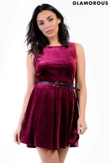 Glamorous Petite Velvet Skater Dress