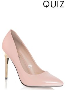 Quiz Plated Pointed Court Heels