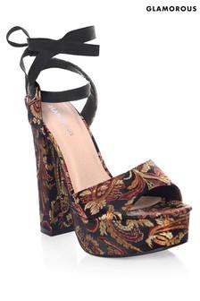 Glamorous Jacquard Platform Sandal