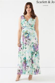 Scarlett & Jo Floral Chiffon Maxi Dress