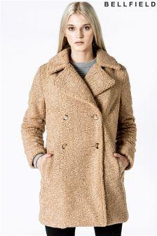 Bellfield Faux Teddy Fur Overcoat