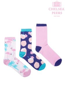 Chelsea Peers Flamingo Socks Pack Of 3
