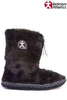 Bedroom Athletics Short Faux Fur Slipper Boots