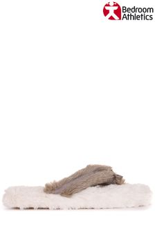 Bedroom Athletics Faux Fur Spa Thong Slippers
