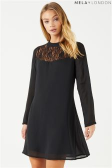 Mela London Lace Front Shift Dress