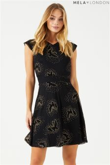Mela London Butterfly Glitz Skater Dress