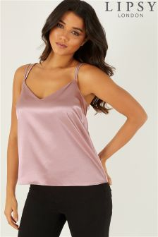 Lipsy Multi Strap Satin Cami Top