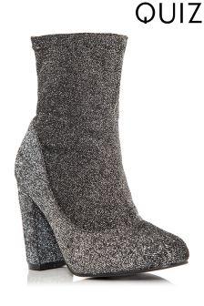 Quiz Brillo Block Heel Ankle Boots