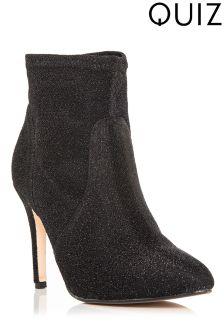 Quiz Brillo Stiletto Heel Boots