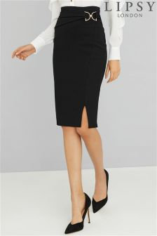 Lipsy Buckle Pencil Skirt