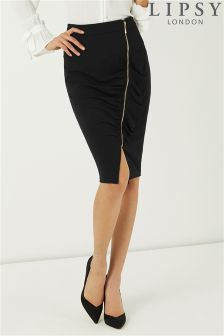 Lipsy Frill Zip Pencil Skirt