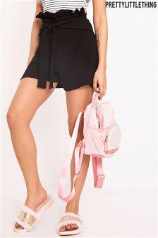 PrettyLittleThing Paperbag Waist Shorts