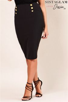 Jessica Wright PU Pencil Skirt