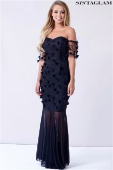 Sistaglam Maxi Embellished Dress