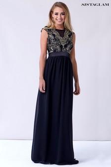 Sistagalm Maxi Gold Detail Dress