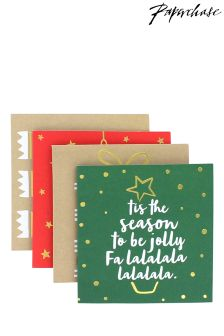 Paperchase Adult Christmas Cards - Box Of 20