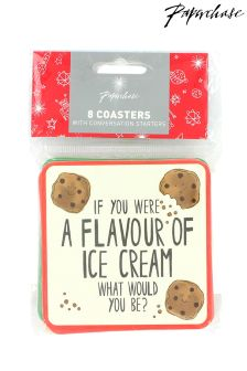 Paperchase Party  Conversation Starter Coasters