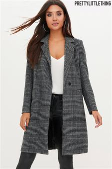 PrettyLittleThing Check Tailored Coat