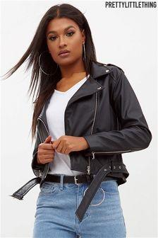 PrettyLittleThing Faux Leather Biker Jacket