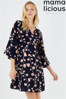 Mamalicious Maternity Floral Print Mini Dress