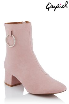 Qupid Suedete Ankle Boots