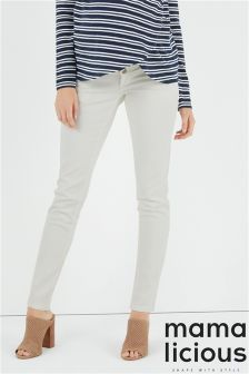Mamalicious Maternity Sigga Slim Plain Jeans