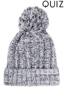 Quiz Marl Knitted Pom Hat