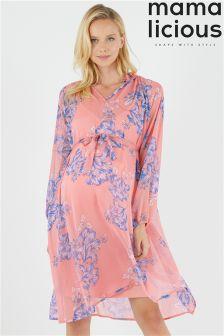 Платье с цветочным принтом для беременных Mamalicious