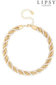 Lipsy Pearl Twist Chain Necklace