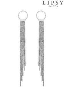 Lipsy Crystal Diamanté Fringed Earrings